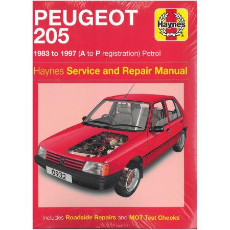 205 Petrol  A to P 83-97 Revue technique Haynes PEUGEOT Anglais