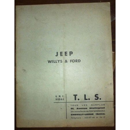 WILLYS  Jeep et Ford  ME-JEEP-WILLYS - Manuel Entretien