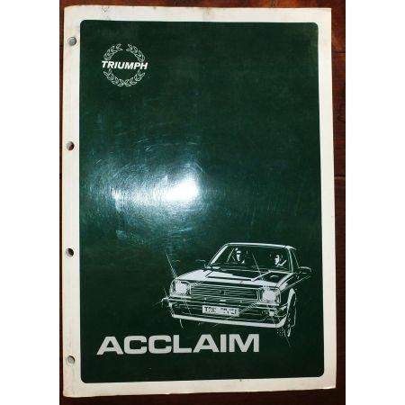 Acclaim -  Manuel Réparation TRIUMPH