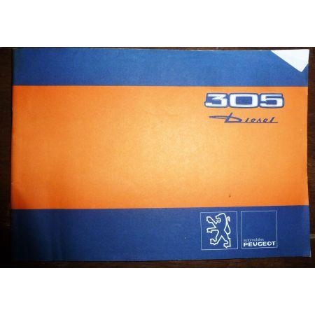 PEUGEOT 305 Diesel  A30 - D30 - T30  MU-PEU-305D - Manuel utilisateur