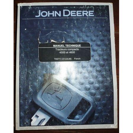 JOHN DEERE 4500 4600  MA-JD-45004600 - Manuel Atelier
