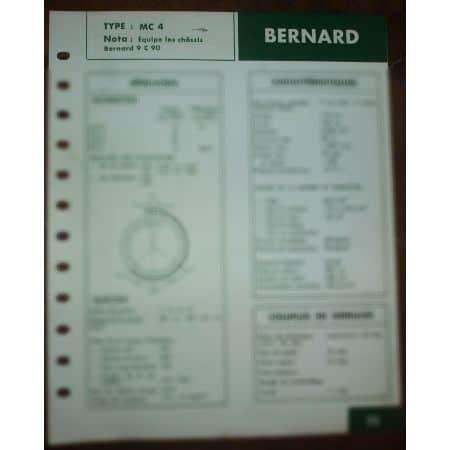 W42 - W71 Fiche Technique Bernard