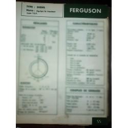 FERGUSON Diesel  Pour tracteur type T.E.F  Ref : FT-FER-55