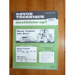MF265 590 JD 332 466 Revue Technique Agricole John Deere