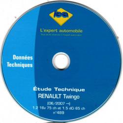 RENAULT Twingo depuis 06/2007  1.2 16V 75cv - 1.5 dCi 65cv  CD-LEA0489 -Revue Technique L expert automobile CD-ROM