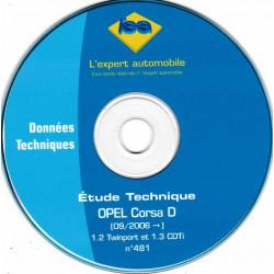 OPEL Corsa D depuis 09/2006  1.2 TwinSport et 1.3 CDTi  CD-LEA0481 -Revue Technique L expert automobile CD-ROM
