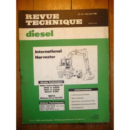 IH 3945 3965 Revue Technique TP Deutz