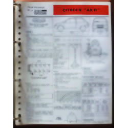 AX 11 Fiche Technique Citroen