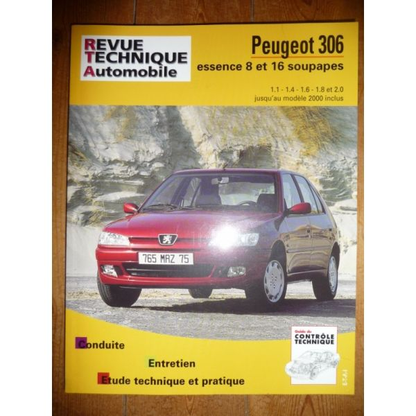 rta revue technique peugeot 306 essence jusqu 39 en 2000 inclus. Black Bedroom Furniture Sets. Home Design Ideas