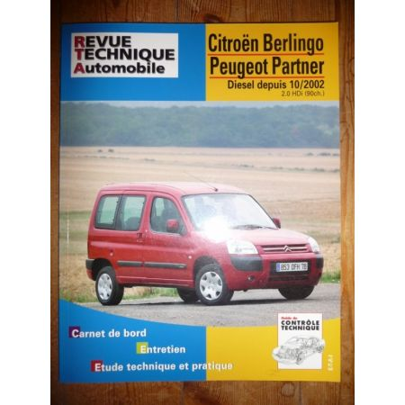 Berlingo Partner 2.0HDI 02- Revue Technique Citroen Peugeot