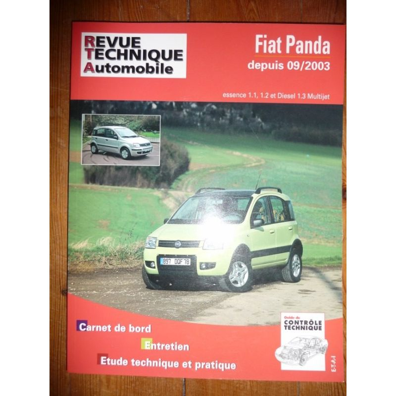 rta revue technique fiat panda depuis 09 2003 essence et diesel multijet. Black Bedroom Furniture Sets. Home Design Ideas
