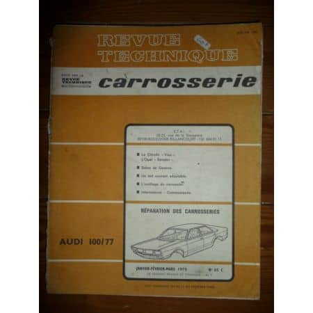 100/77 Revue Technique Carrosserie Audi