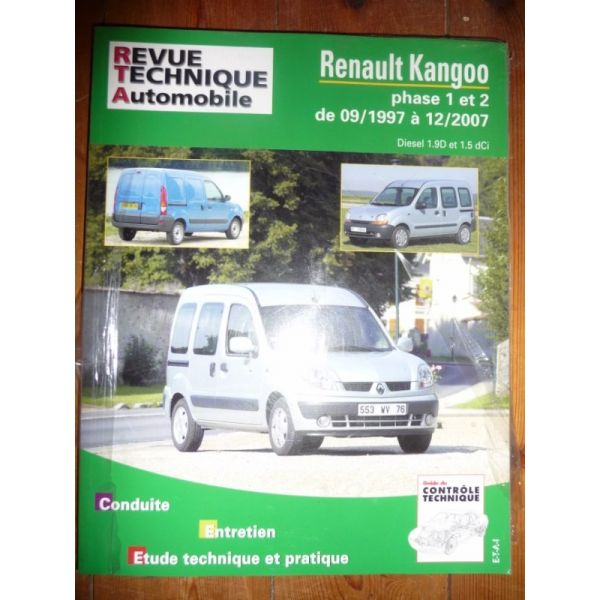 rta revue technique utilitaires renault kangoo phases i et ii de 09 1997 12 2007 diesel 1 9 d. Black Bedroom Furniture Sets. Home Design Ideas