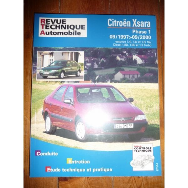 rta revue technique citroen xsara phase i de 09 1997 09. Black Bedroom Furniture Sets. Home Design Ideas