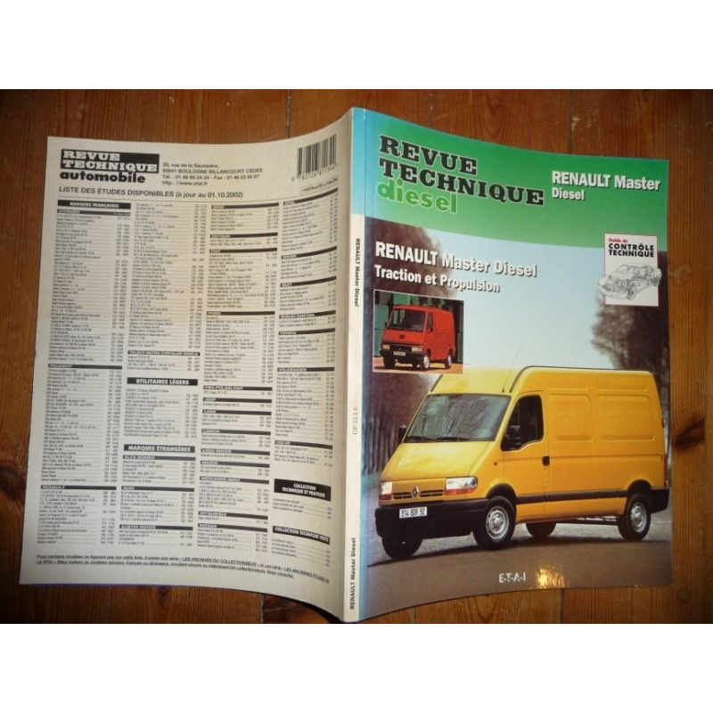 rta revue technique renault master diesel traction et propulsion. Black Bedroom Furniture Sets. Home Design Ideas