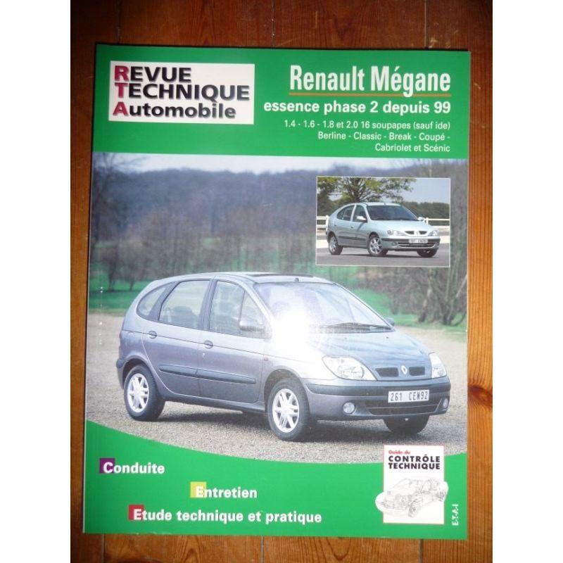 rta revues technique automobile renault megane essence phase 2 depuis 1999. Black Bedroom Furniture Sets. Home Design Ideas