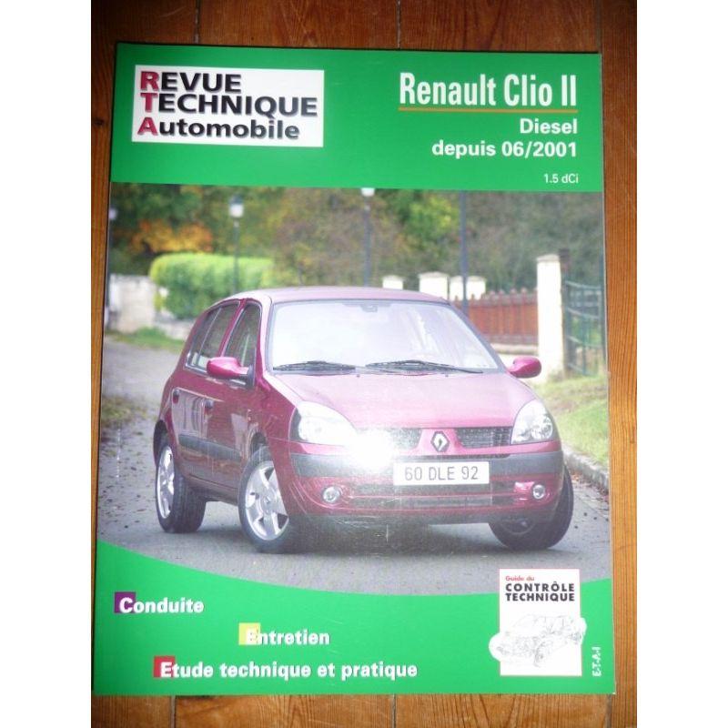rta revues technique automobile renault clio ii diesel depuis 06 2001 dci. Black Bedroom Furniture Sets. Home Design Ideas