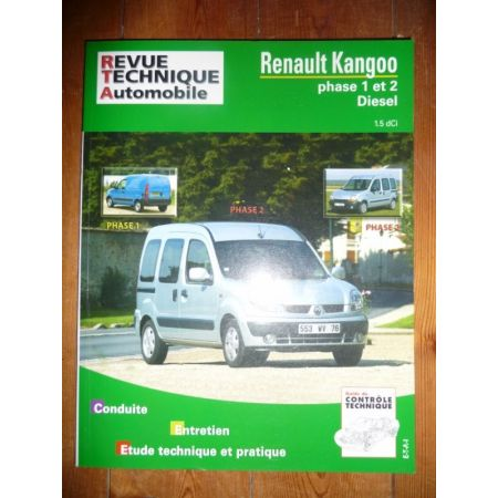 rta revues technique automobile renault kangoo phases 1 et 2 diesel dci. Black Bedroom Furniture Sets. Home Design Ideas