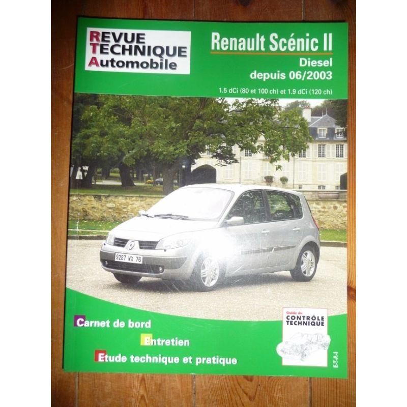 rta revues technique automobile renault scenic ii diesel depuis 06 2003. Black Bedroom Furniture Sets. Home Design Ideas
