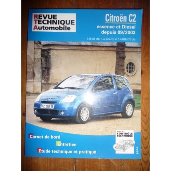 rta revues technique automobile citroen c2 essence et diesel depuis 09 2003. Black Bedroom Furniture Sets. Home Design Ideas