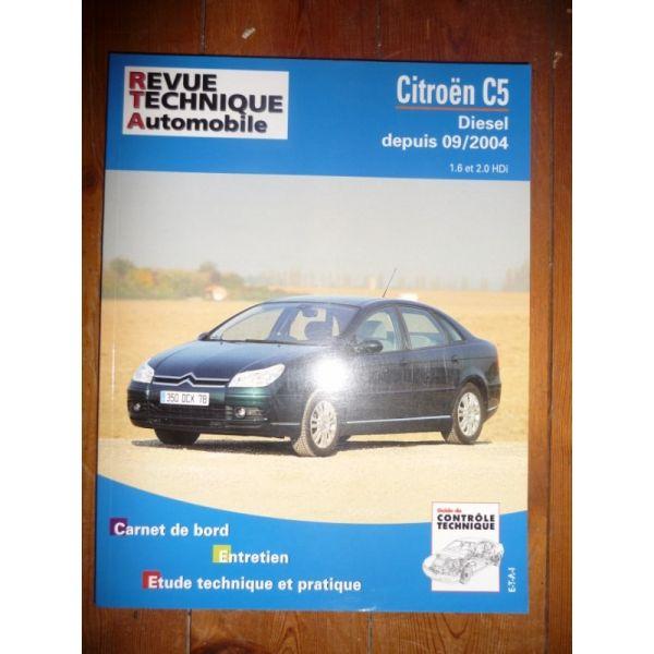 rta revues technique automobile citroen c5 diesel depuis 09 2004 et hdi. Black Bedroom Furniture Sets. Home Design Ideas