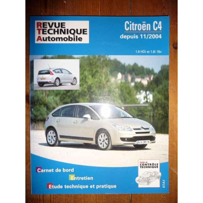 rta revues technique automobile citroen c4 depuis 11 2004 hdi et 16v. Black Bedroom Furniture Sets. Home Design Ideas