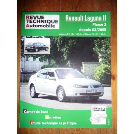 rta revues technique automobile renault laguna ii phase 2 depuis 03 2005. Black Bedroom Furniture Sets. Home Design Ideas