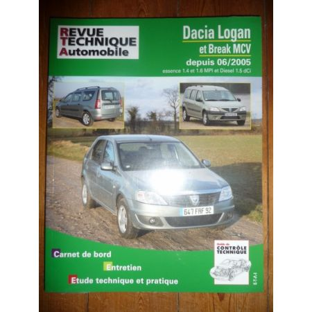 Logan MCV Revue Technique Dacia