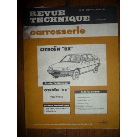 BX Revue Technique Carrosserie Citroen