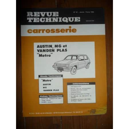 Metro Revue Technique Carrosserie Rover MG