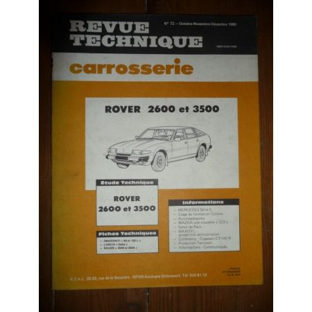 2600 3500 Revue Technique Carrosserie Rover MG