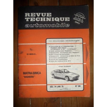 Bagheera Revue Technique Matra Simca