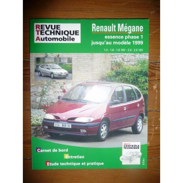 rta revues technique automobile renault megane essence phase i jusqu 39 au mod le 1999 berline. Black Bedroom Furniture Sets. Home Design Ideas