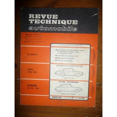 ID 19 B 1967 Revue Technique Citroen