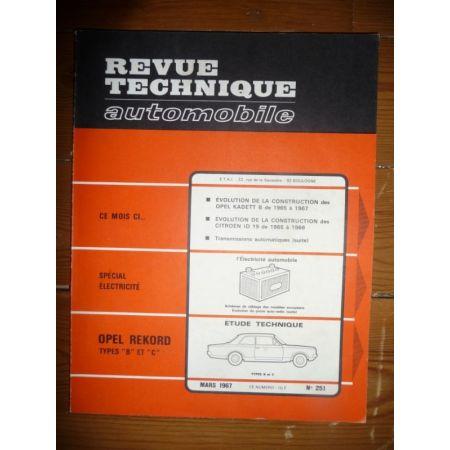 REKORD B C Revue Technique Opel