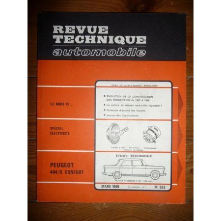 404/8 Confort Revue Technique Peugeot