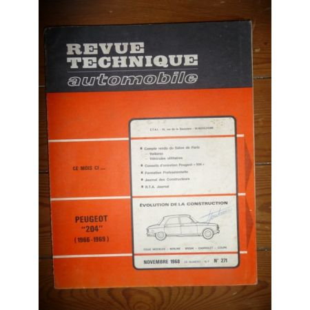 204 66-69 Revue Technique Peugeot