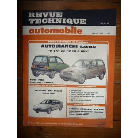 Y10 Revue Technique Autobianchi