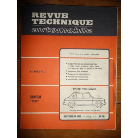 1100 5 6 CV Revue Technique Simca Talbot