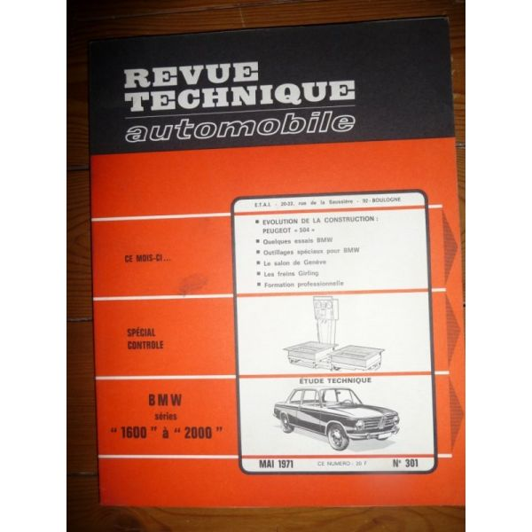 1600 2000 Revue Technique Bmw