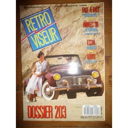 203 Revue Retro Viseur Peugeot