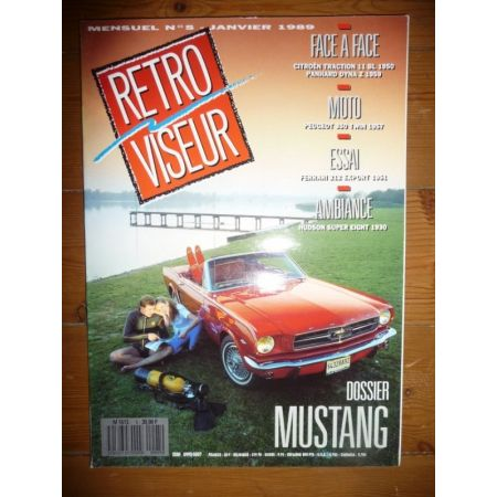 MUSTANG Revue Retro Viseur Ford