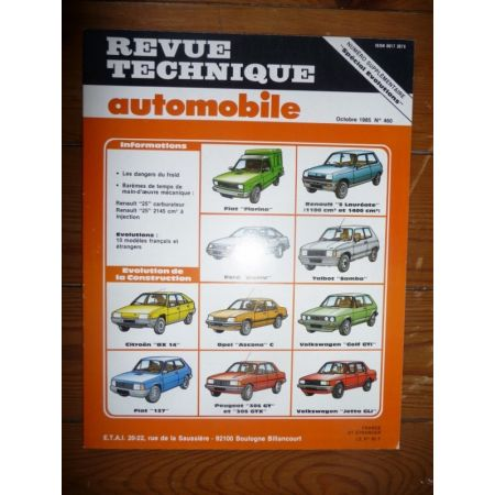 Spécial Evo Revue Technique Fiat Citroen Ford Opel Peugeot Renault Volkswagen